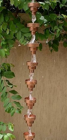 Most present-day and graceful garden designs Formal. Constructed of copper to resemble Bamboo, this decorative yet practical rainchain adds character to your home. The modern styling is sleek and sure to captivate for years to come. This decorative and…More Source: https://www.overstock.com/Home-Garden/Copper-Bamboo-Rainchain/2177869/product.html