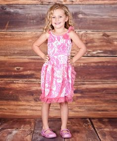 Pink Floral Ruffle Oh-So-Lovely Dress - Infant, Toddler & Girls #zulily #zulilyfinds