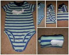 This is how you fold your baby's onesies. Pin to your followers! They will love this idea.