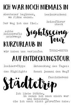 Klartext Stempel für dein Urlaubsalbum | Roadtrip Städtetrip Travel Journal #Urlaub von www.danipeuss.de Scrapbooking Stempeln Mixed Media Kartenbasteln danidori Memory Notebook Klartextstempel