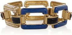 ShopStyle: J.Crew Enamel and glass crystal bracelet