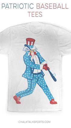 USA Baseball Tee. Uncle Sam Baseball Tee only from chalktalksports.com