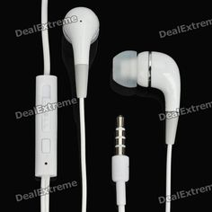 Stylish In-Ear Earphone w/ Microphone for Ipad / Iphone / Ipod - White (3.5mm-Plug / 110cm-Cable)