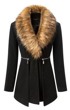 031d34b4589 Fur Neck Plus Size Coat For Women Plus Size Coats