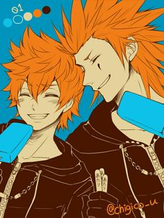(*** http://BubbleCraze.org - It's fun, it's free and it's wickedly addicting. ***)  Original artist unknown. Roxas and Axel.