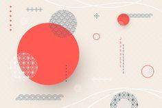 和風の幾何学的な背景 | Free Vector #Freepik #freevector #background #abstract #design #shapes