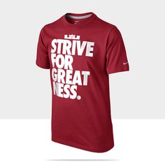 "Nike Store. LeBron ""Strive for Greatness"" #Boys' T-Shirt #kidsfashion"