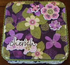 An altered candy tin for my friend LaDonna.