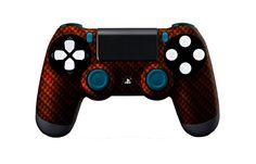 PS4Controller-OrangeBlackCarbonFiber   Flickr - Photo Sharing! #PS4controller #PS4 #PlayStation4controller #customcontroller #moddedcontroller #dualshock4