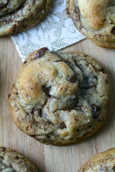Soft & Chewy Salted Chocolate Chip Cookies