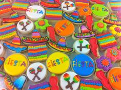 Mexican Fiesta MINI cookies! - HayleyCakes and Cookies
