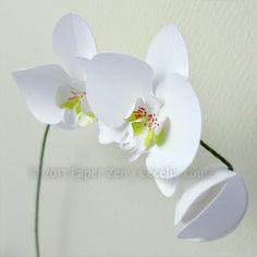 Paper Zen: 3D Paper Orchid Birthday Card