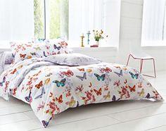linge de lit envol de papillons - Becquet Comforters, Blanket, Furniture, Home Decor, Comforter Set, Bedding, Linens, Home Decoration, White Duvet Covers