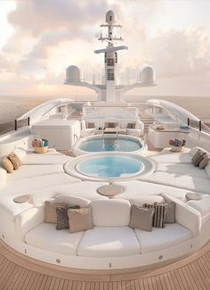 Today we will tell you about the most expensive yachts in the world. These beautiful vessels are built with the latest technology and of course incredibly luxurious. Their owners are very wealthypelorus yacht interior design Luxury Yacht Interior, Boat Interior, Interior Photo, Interior Design, Private Jet Interior, Vacation Places, Dream Vacations, Interior Do Barco, Most Expensive Yacht