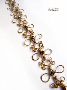 Wire Wrapped bracelet via Etsy