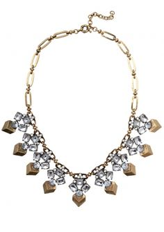 Golden Cubes Crystal Statement Necklace 22,90 € #happinessbtq
