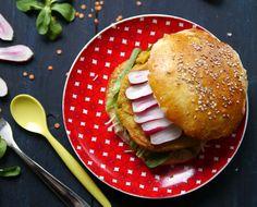 Burgers [steaks de lentilles corail & pesto rouge] - Blog de Châtaigne