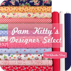Pam Kitty Picnic Designer Select by Fat Quarter Shop, via Flickr
