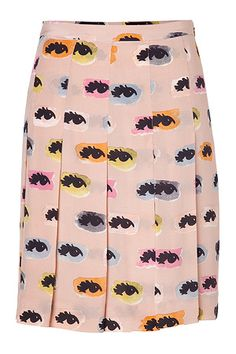 STYLEBOP.com | Blush Eye Print Silk Skirt by MOSCHINO C | the latest trends from the capitals of the world