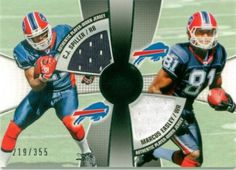 C.J. Spiller & Marcus Easley Dual Player Worn Jersey Card From Topps. Serial #'D