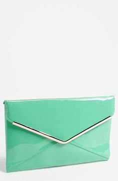 Love! Mint envelope clutch