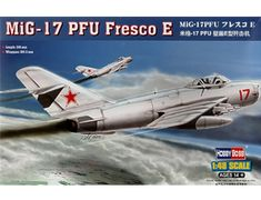 The Hobby Boss 1/48 MiG 17PM Fresco E plastic aircraft model accurately recreates the real life Cold War era Soviet jet-powered interceptor. This plastic aircraft kit requires paint and glue to complete.