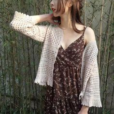 Office Party Dress, Style Preppy, Coats For Women, Sweaters For Women, Korean Dress, Summer Knitting, Bikini Cover Up, Cropped Cardigan, Lace Tops