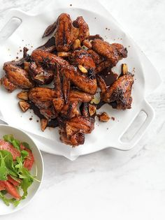 Sticky Chicken with Star Anise and Pineapple. This sweet and sticky dish is the ultimate Friday night treat or weekend crowd pleaser. Cha Cha Chicken, Healthy Food Choices, Healthy Recipes, Chinese Chicken Wings, Whole Food Recipes, Cooking Recipes, Sticky Chicken, Pineapple Recipes, Asian Recipes