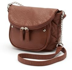 $20, Candies Layla Washed Crossbody Bag. Sold by Kohl's. Click for more info: https://lookastic.com/women/shop_items/312333/redirect