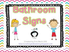 Bathroom Signs Templates bathroom signs and labels | students, school and kindergarten