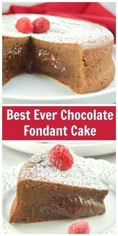 Mouthwatering and fudgy, this is the Best Chocolate Fondant Cake recipe you will ever try, also known as molten cake. Cake Recipes For Kids, Healthy Cake Recipes, Best Dessert Recipes, Cake Recipes From Scratch, Cupcake Recipes, Easy Desserts, Delicious Desserts, Sweet Recipes, Dinner Recipes