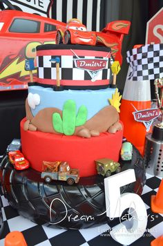 Amazing cake from a Disney Cars Birthday Party!  See more party ideas at CatchMyParty.com!