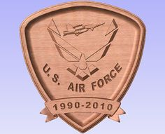 Personalized US Air Force Military Wall by SplintersCustomWood