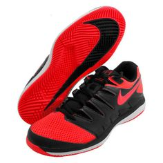 Nike Air Zoom Vapor X HC Men s Tennis Shoes Red Racket Racquet NWT AA8030 -006 6ace37b1007