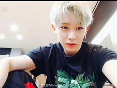 """Wonho selca - This pic drew the breath out of me again.. when I open a pic and see the face and the eyes and realize it's him, in that instant it sucks the breath right out of me.. I have to manually make myself breathe again.. I hope he knows that he has that effect.. and the pictures of him just sitting there with that """"stillness"""" on his face do it worse than his glorious abs.. his body is sexy as fuck, but """"HE"""" is breath-taking.."""