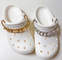 Crocs Slippers, Crocs Shoes, Crocs Fashion, Sneakers Fashion, Cool Crocs, Designer Crocs, Swag Shoes, Bling Shoes, Croc Charms