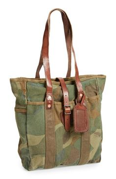 Polo Ralph Lauren Camo Canvas Tote available at  Nordstrom Camo Fashion,  Fashion Bags, 7954555fc90