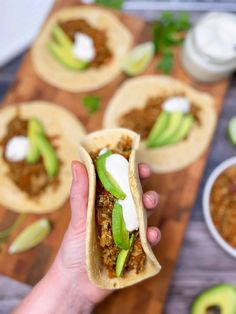 Learn how to make easy vegan tacos using homemade veggie grounds like cauliflower and carrots. This plant based ground meat recipe is perfect for soft tacos, shells or make it a taco salad. Use all your favourite garnishes like avocado, salsa guacamole, dairy free cashew cream and hot sauce. This dish is loved by vegans, vegetarians, and omnivores alike. As an added bonus, it's gluten free and oil free too!