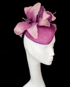Sinamay fascinator with flower Fascinators by PrincessPalles, €120.00