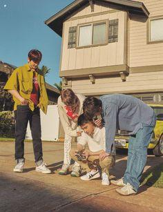 Baekhyun, Kai, D.O, Sehun - 190911 Fourth official photobook 'PRESENT ; the moment' Credit: Kyungsoo, Chanyeol, Exo Kokobop, Kpop Exo, Exo Ot12, Kaisoo, Chanbaek, Exo Album, Xiuchen