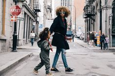 Mom and London Street Style