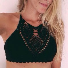 Shop Ecote Vanessa Crochet Bra Top at Urban Outfitters today. Bikinis Crochet, Summer Outfits, Cute Outfits, Lingerie, Beach Wear, Facon, Swimsuits, Swimwear, Look Cool