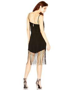 GUESS Handkerchief-Hem Fringe Sheath - Juniors Dresses - Macy's