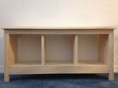 "36"" Unfinished Entryway Hallway Mudroom Bench Shoe Cubby / Storage / Organizer…"