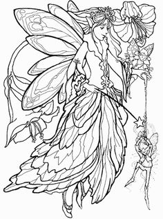 Unicorn and Fairy Coloring Page