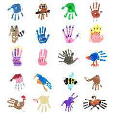 Handprints Prinzessin - eine von 38 Handprint-Figuren aus dem Handprints PDF