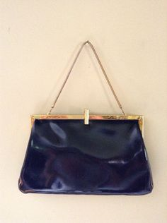 Navy & Gold Vintage Clutch by LaceSurplus on Etsy, $9.00