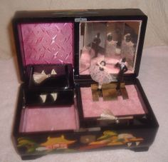Music Jewelry Box as pictured in condition pictured. Ballerina Jewelry Box, Music Jewelry, Dancers, Mermaids, It Works, Decorative Boxes, Animation, Japan, Frame