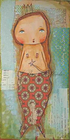 Mermaid art Originalwishing on a star  by PBsArtStudio on Etsy, on sale...from &185.00...to $145.00