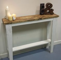 OOAK original handmade wooden hall sofa console table wood upcycle reclaimed in Home, Furniture & DIY, Furniture, Tables | eBay